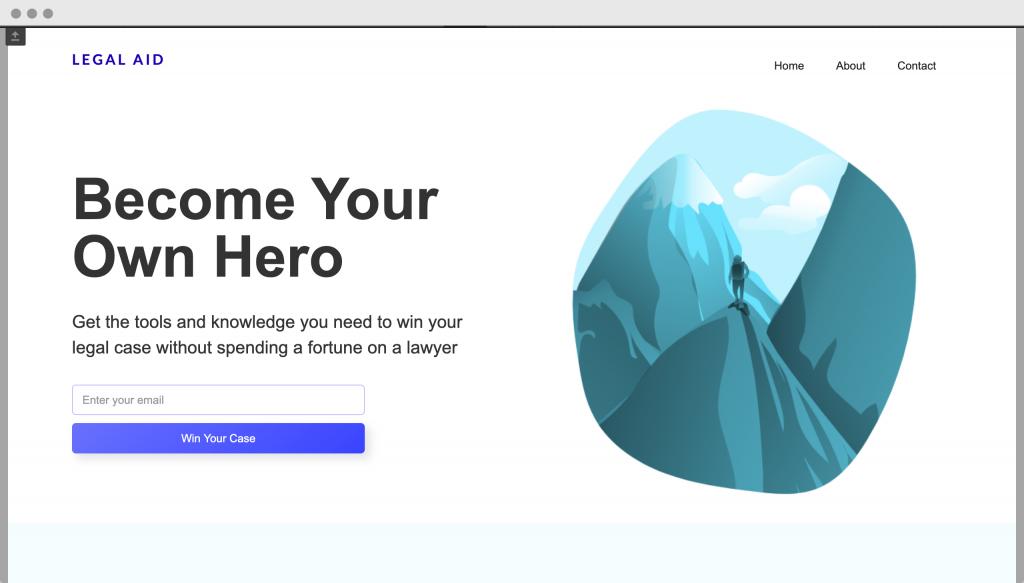 legal aid homepage screenshot